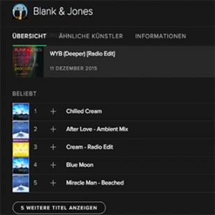 Blank & Jones now on Spotify